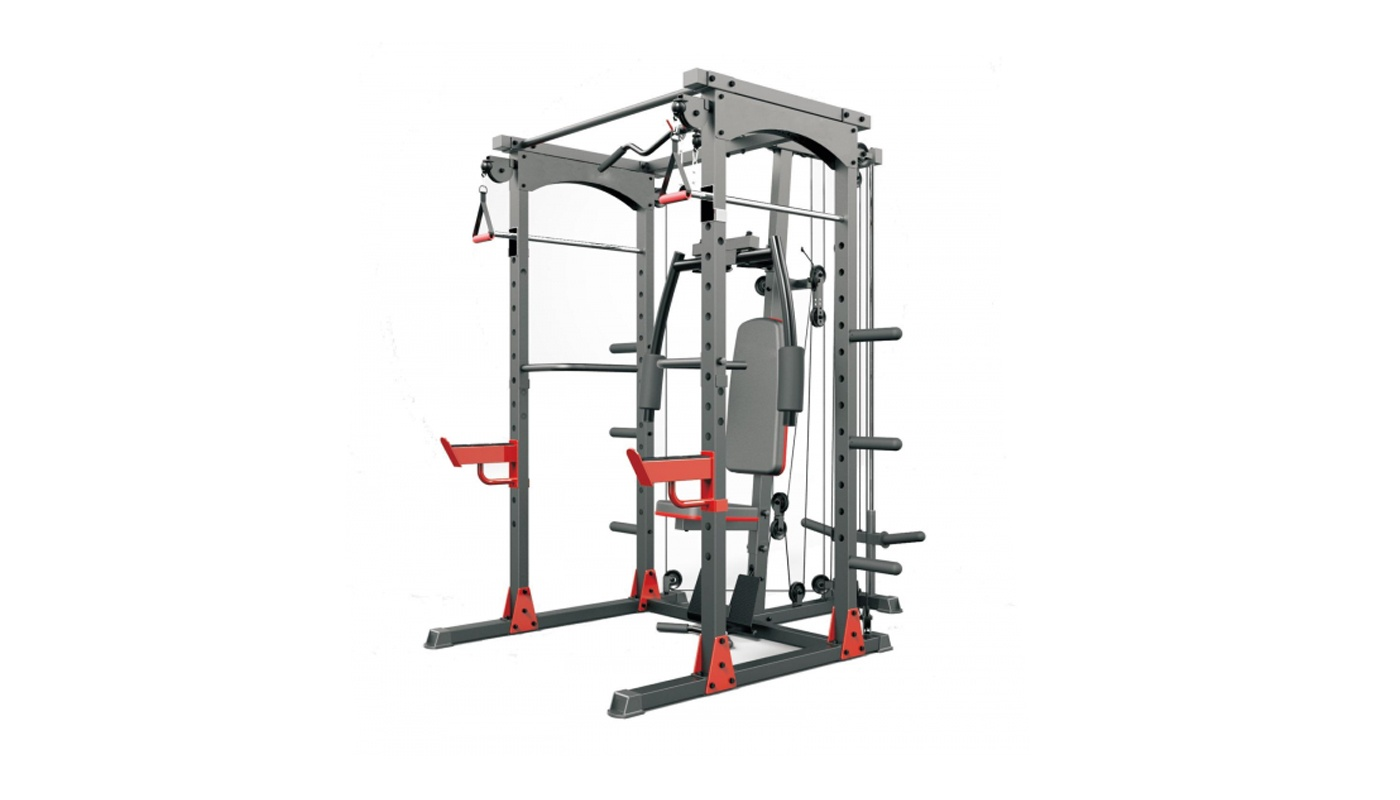 Rack Multi-Functional Cage, free body, weightlifting, bench press and rowing machine