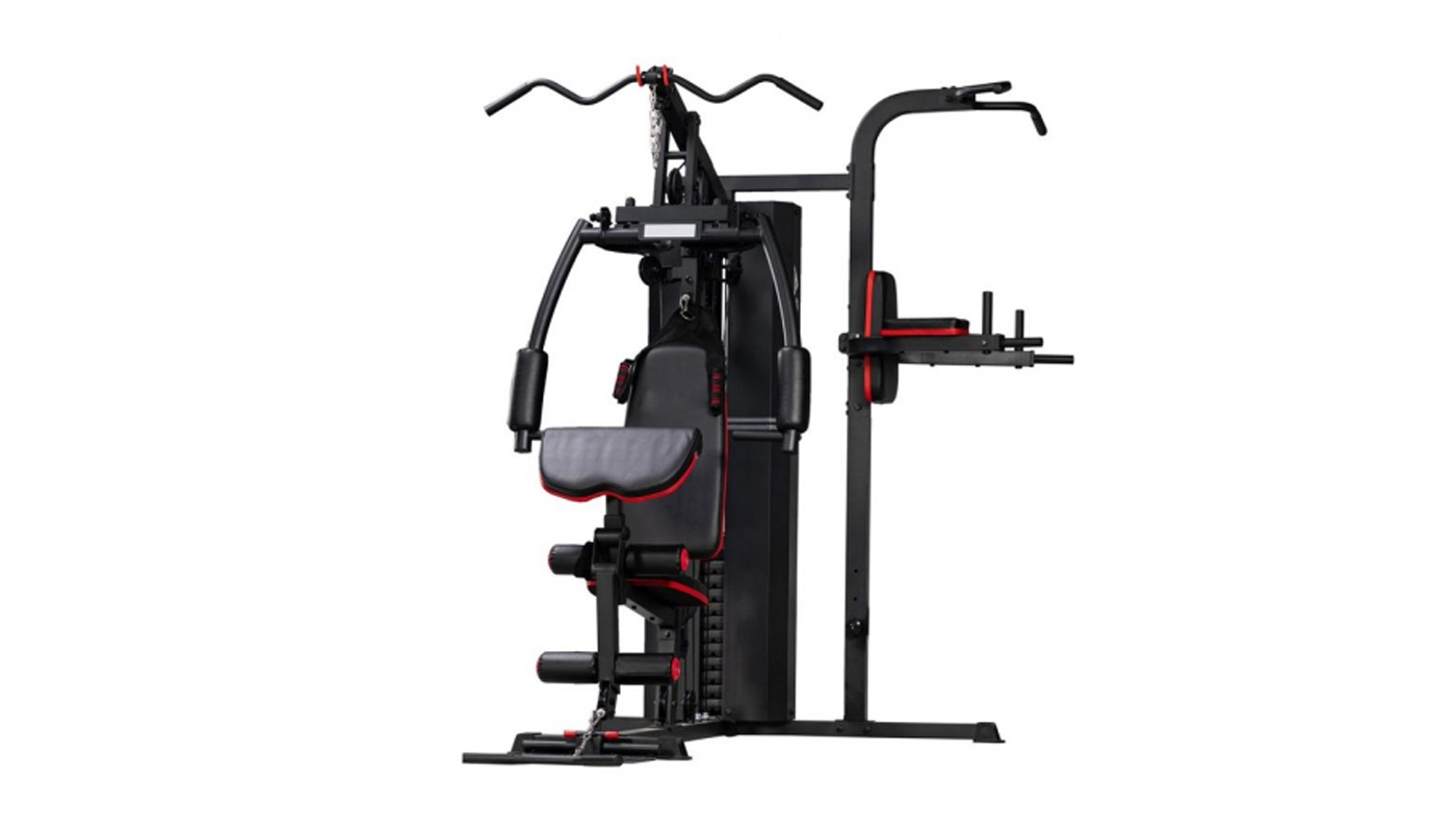 Multi-function gym station with Power Tower - weight pack 72 kg